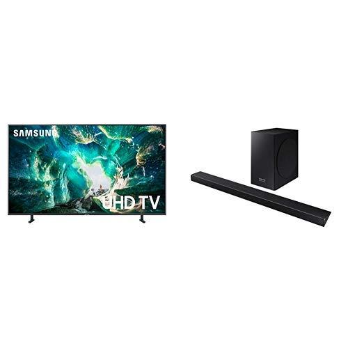 (Samsung UN49RU8000FXZA Flat 49'' 4K UHD 8 Series Smart TV (2019) with Harman Kardon HW-Q60R  Acoustic Beam Q60R Series Soundbar)