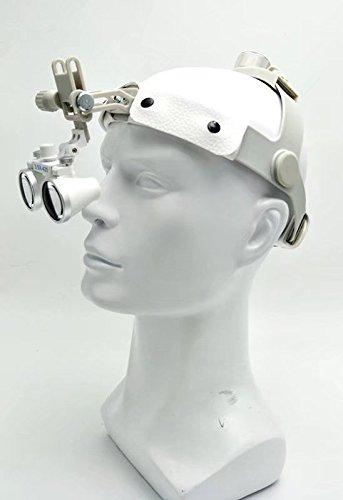 Hot dentale 3.5/x occhialini chirurgica binoculare vetro Medical lente d ingrandimento in pelle fascia dy-108/nuovo tipo bianco