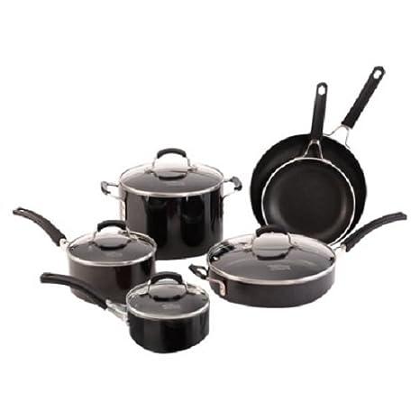 Amazon.com: Calphalon Kitchen Essentials 10 piece Black ...