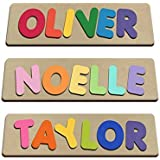 Funky Fonts Personalized Wooden Name Puzzles Child's Name, Custom Made Puzzle From Wood Word
