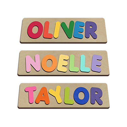 amazon com funky fonts personalized wooden name puzzles child s