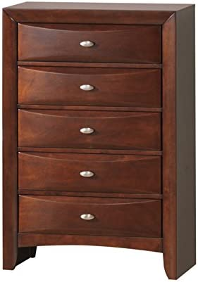 Global Furniture Linda Chest Drawers, New Merlot