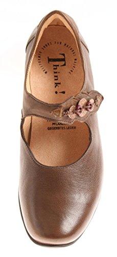 Think! Ballerina Summer Women's Shoe Women's Shoes Leather 86114 Chic Brown BoGjCCXri