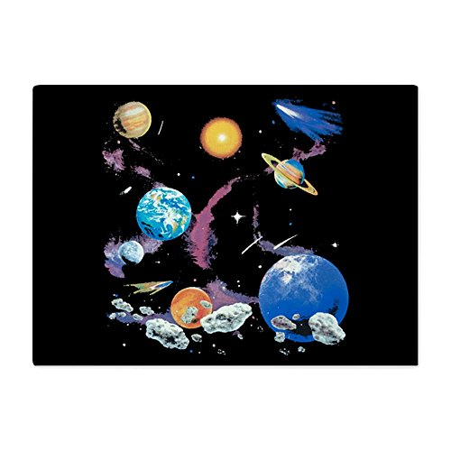 Glass Cutting Board Large Solar System And Asteroids by Royal Lion