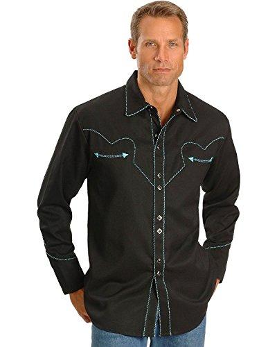 Scully Men's Vintage Western Shirt Black X-Large