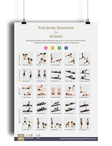 Tono y Apriete Home/gimnasio carteles Juego de 5 ejercicio gráficos 19