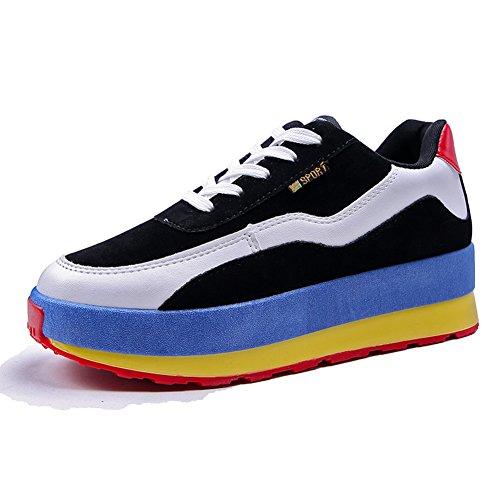 Koreanische Version Der Farbe Der Dicken Unteren Schuhe,Casual Sportschuhe,Students Ventilation Net-face Shoes A