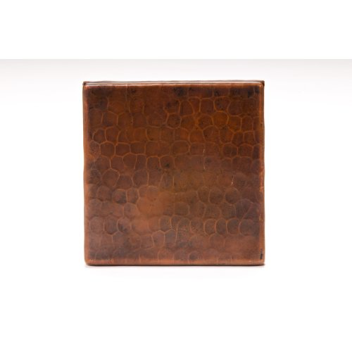 Premier Copper Products T4DBH 4-Inch by 4-Inch Hammered Copper Tile, Oil Rubbed Bronze