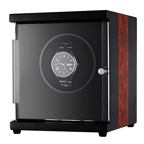 CHIYODA Automatic Single Watch Winder with Quiet Motor – 12 Rotation Mode Setting