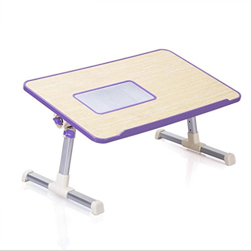 GFL Laptop Tables Bed Dormitory Desk Simple Table Folding Home Desks Radiating Computer Tables (Color : Purple) by GFL