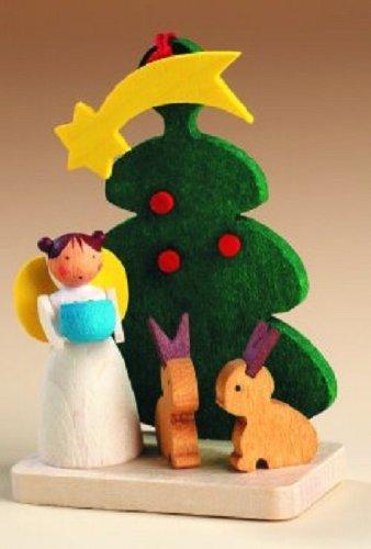 Angel Tree with Bunnies German Wood Christmas Ornament: Amazon.co.uk ...