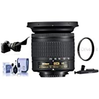 Nikon AF-P DX NIKKOR 10-20mm f/4.5-5.6G IF VR Zoom Lens - U.S.A. Warranty - Bundle With 72mm UV Filter, Flex Lens Shade, Cleaning Kit, Capleash II