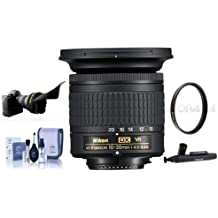 Nikon AF-P DX NIKKOR 10-20mm f/4.5-5.6G IF VR Zoom Lens - U.S.A. Warranty - Bundle with 72mm UV Filter, Cleaning Kit, Capleash II