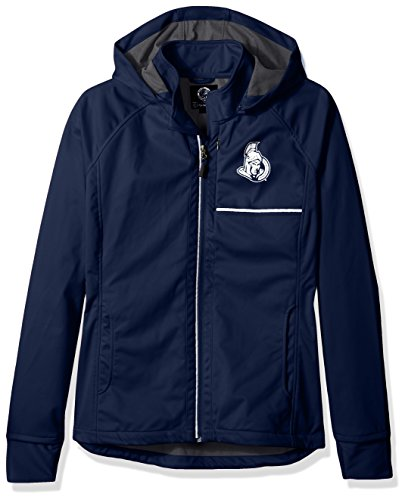 (GIII For Her Adult Women Cut Back Soft Shell Jacket, Navy,)