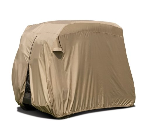 Classic Accessories Fairway Golf Cart Easy On Cover  4 Person  Tan
