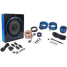 "Rockville RW10CA 10"" 800 Watt Under-Seat Slim Amplified Car Subwoofer +Wire Kit"