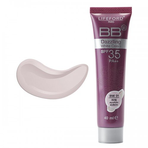 3 Pack BB Cream Dazzing White No.BW 01 Pink Color