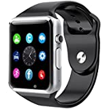 Amoji A1 Bluetooth Smart Watch for Smart Phones iPhone Samsung, iOS, Android, Support