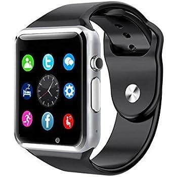 Amazon.com: NOKKOO A1 Bluetooth Smart Watch for Smart Phones ...