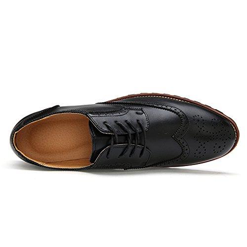 Tinta Scarpe Scarpe Oxford Unita Comode Scarpe Uomo da Cricket da Color Business Nero Classiche Brogue qw1HYY0