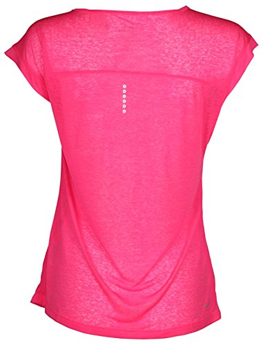 Nike Femmes Dri-fit Cool Breeze Courir Chemise Rose