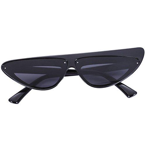 Mujeres Shades Negro Cat Eye Sunglasses lujo Frame Travel Gafas Sexy TOOGOO Sun de Negro Gafas q6cWFZZHS