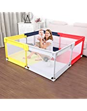 Baby Playpen Extra Large Play yard for kids Toddlers Safety Play Activity Centre Visible Mesh Anti-Slip Indoor/Outdoor Portable Lightweight (Square (59in * 59in))