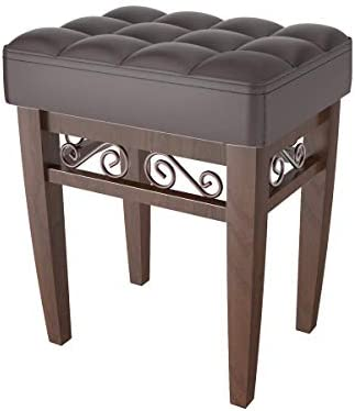 Brown Crownroyaljack Furniture Square Piano Bench Bathroom Vanity Bench Makeup Stool Chairs Brown Buy Online At Best Price In Uae Amazon Ae