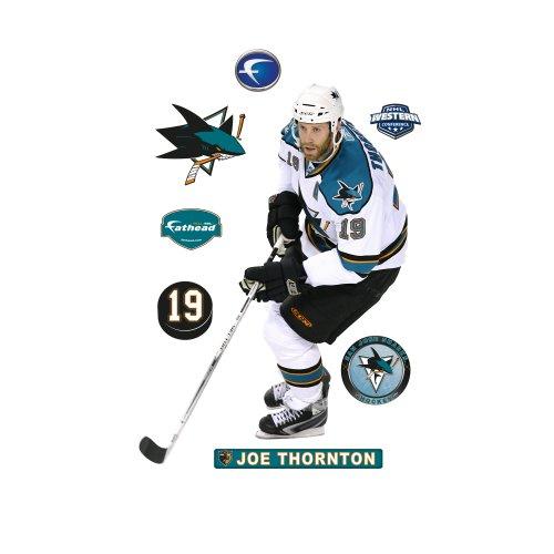 Joe Thornton Nhl - FATHEAD NHL San Jose Sharks Joe Thornton Wall Graphic