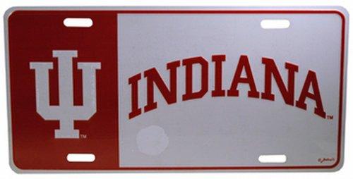 NCAA Indiana Hoosiers Color Block Car Tag