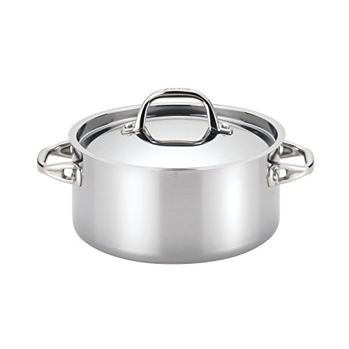 Anolon 30824 Tri-Ply Onyx Dutch Oven, 5-Quart, Stainless -