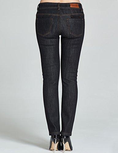 2 Fit de Linning Mujer Negro para Camii Slim Jeans 828b Franela Mia nPtfSF