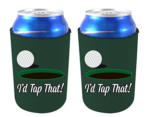 Id Golf (Coolie Junction I'd Tap That Funny Can Coolie (Hunter Green 2 Pack))