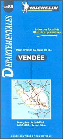 Carte Michelin Vendee.Amazon Fr Carte Routiere Vendee 4085 1 150000 Carte