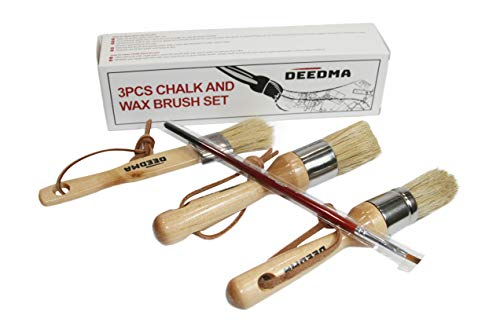 (Chalk Paint Wax Brush Set - Smooth, Effortless and Detailed painting Brush Set - Comfy All-natural Boar Bristle Brushes - No Streak 3 Piece Brush Set with the bonus included)