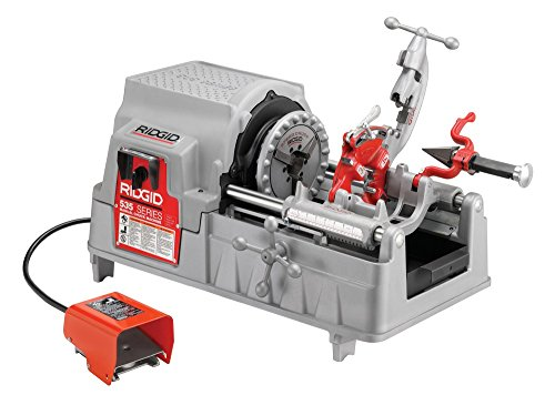 (RIDGID 84097 Model 535 Pipe Threading Machine, 36 RPM Pipe Threading Machine with Hammer Chuck, 1/2-Inch to 2-Inch Pipe Dies and NPT Threading Die Head)