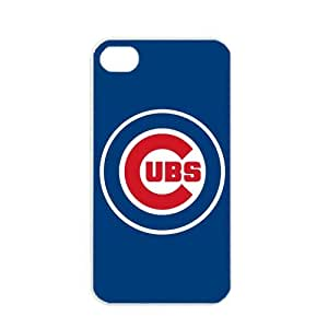 MLB Major League Baseball Chicago CUBS Apple iPhone 4 / 4s TPU Soft Black or White case (White)