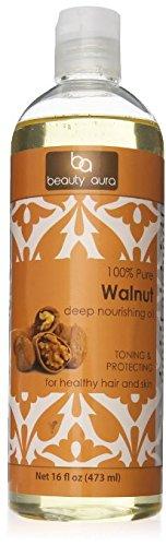 Beauty Aura 100 % Pure Walnut Oil Is Pressed From Best Quality Walnuts, 16 Fl Oz