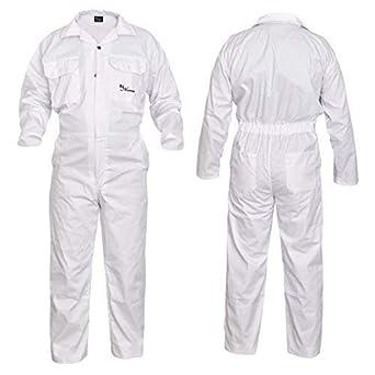 7f867f6b40b441 SHYNE KILTS U.K weiß Herren Overall Monteuranzug Overalls Arbeitskleidung  Mechanik Overall - Weiß, XXX-