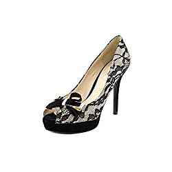Guess Tulle 3 Womens Size 9.5 Black Fabric Pumps Heels Shoes