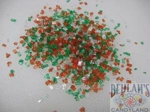 Christmas Gourmet Sugar Jingle Mix Red Green White Topping Sprinkles 1 pound