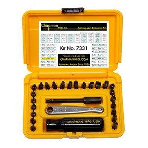 Chapman Offset Screwdriver Kit Inch/Metric, 27 Pc, w/Ratchet
