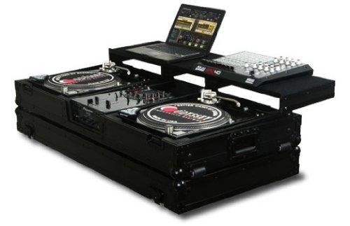 Battle Turntables - Odyssey FZGSPBM10WBL Remixer Glde Turntable Coffin Battle 10 Inch DJ Mixer Coffin