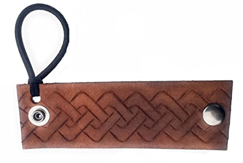 Brown Celtic Knot Leather Hair Wrap