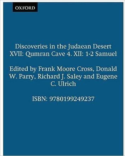 Qumran Cave 4: XII: 1-2 Samuel (Discoveries in the Judaean Desert) (Vol 12)