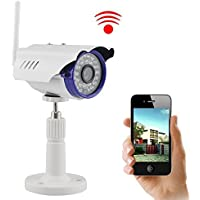 IP Camera, UOKOO 720P 1.0 MegaPixel P2P Plug & Play Wifi Infrared Bullet Waterproof Onvif Security HD Wireless(7815)