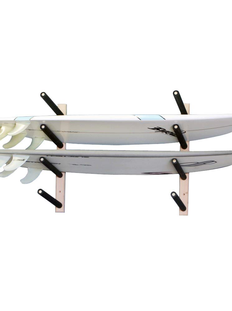 Surfboard, Wakeboard, Kiteboard Wall Rack Mount -- Holds 4 Boards by Pro Board Racks