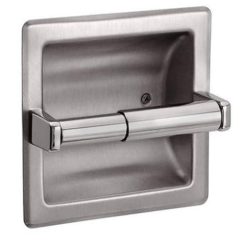 Recessed Toilet Paper Holder - Brushed Nickel - Nickel Recessed Toilet Paper Holder