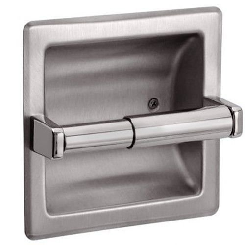 New Recessed Toilet Paper Holder - Brushed Nickel