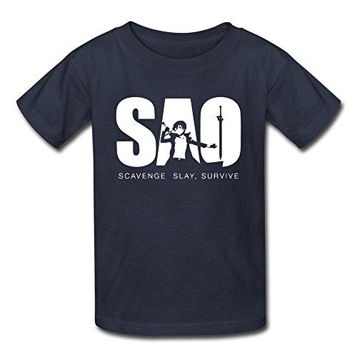 New Lifestyle Kid's Teenagers Sword Art Online SAO Anime Unisex Short Sleeve T-shirt (6-16 Years)